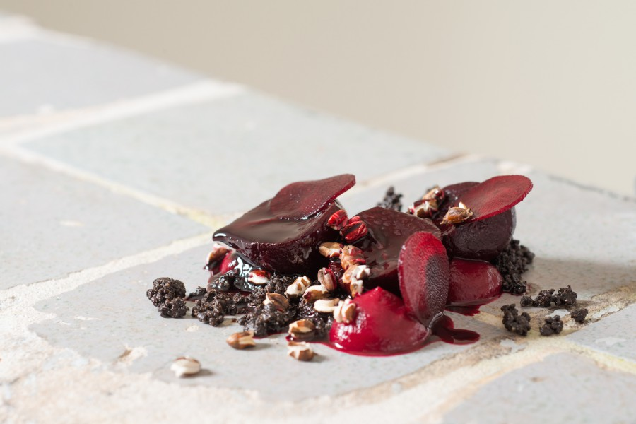 Beetroot and black barley.