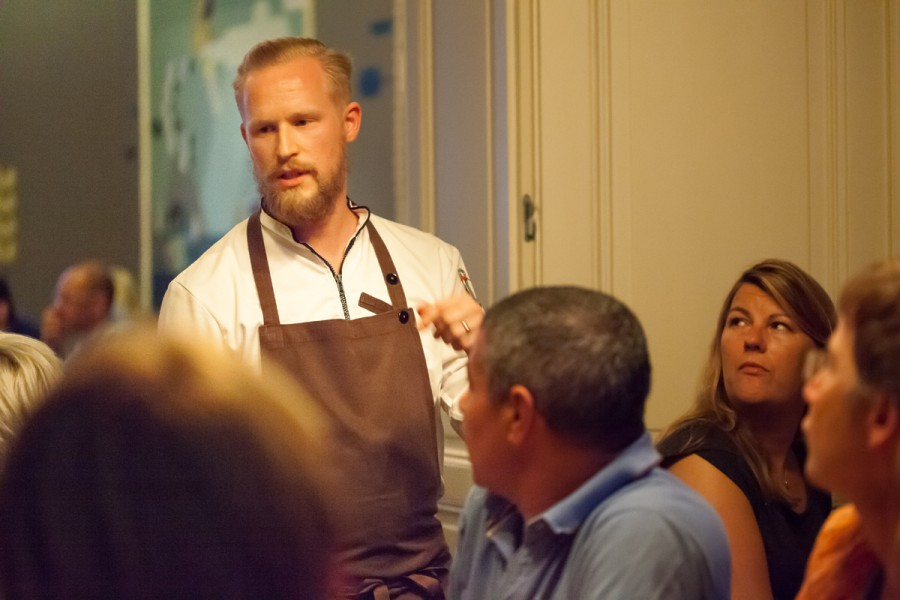 Chef Matthias Schmidt during Steinbeisser's Experimental Gastronomy at the Lindenberg in Frankfurt.