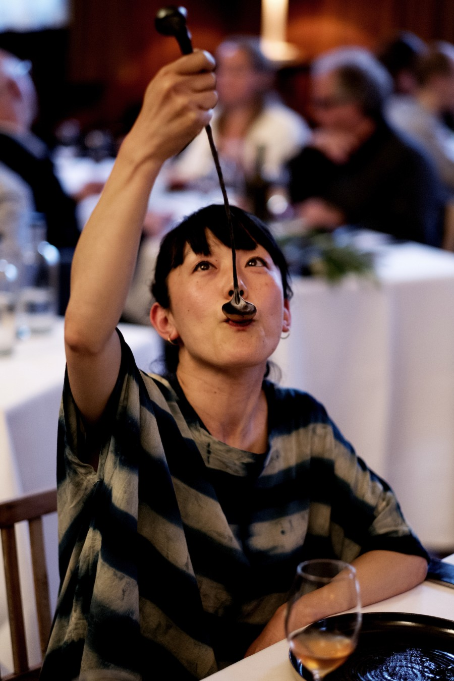 Eating with a 'Wrench' spoon by Nils Hint. Photography by Duncan de Fey.