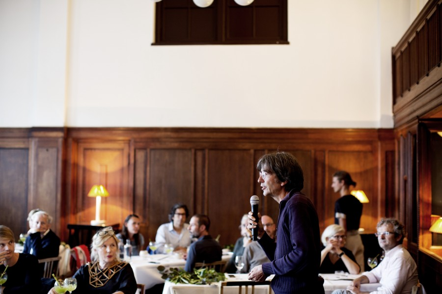 Forest gardener Wouter van Eck during the Botanical Gastronomy at the Lloyd Hotel & Cultural Embassy in Amsterdam.