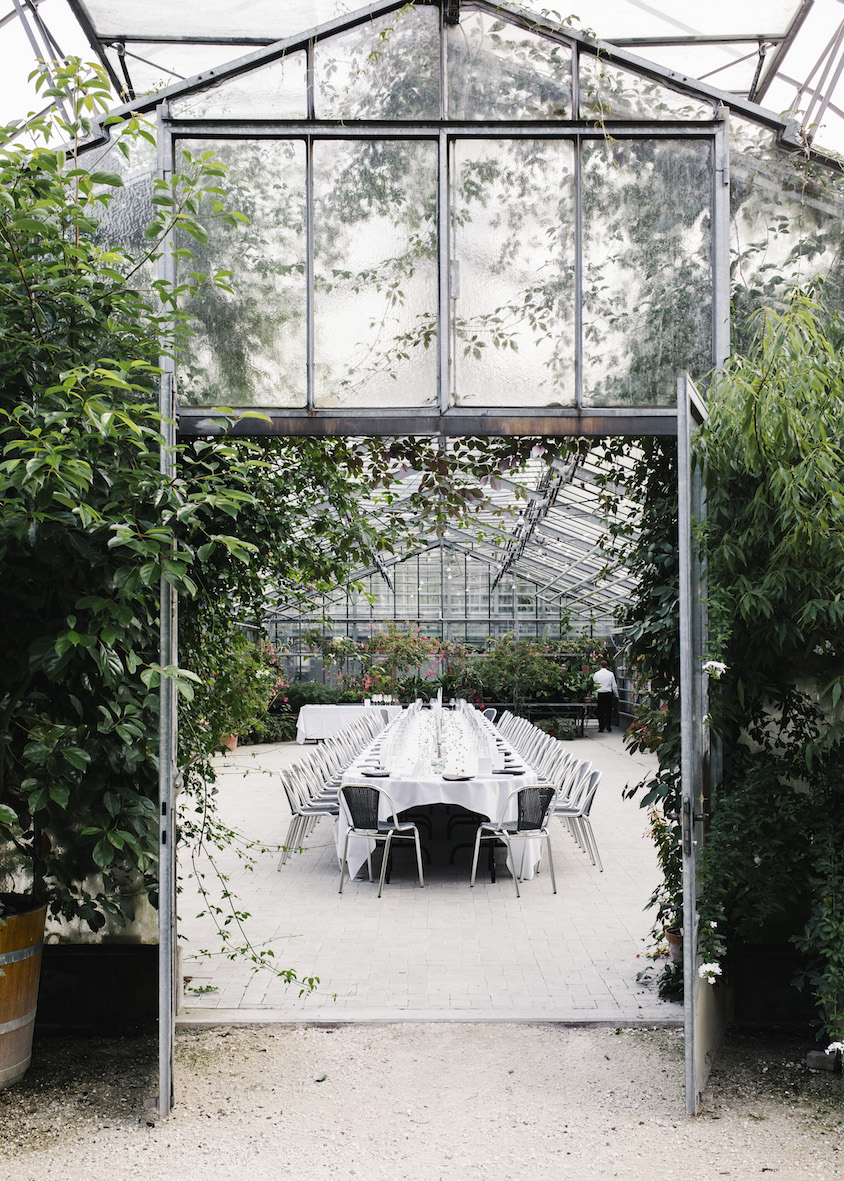 The greenhouse at the Merian Gärten in Basel.