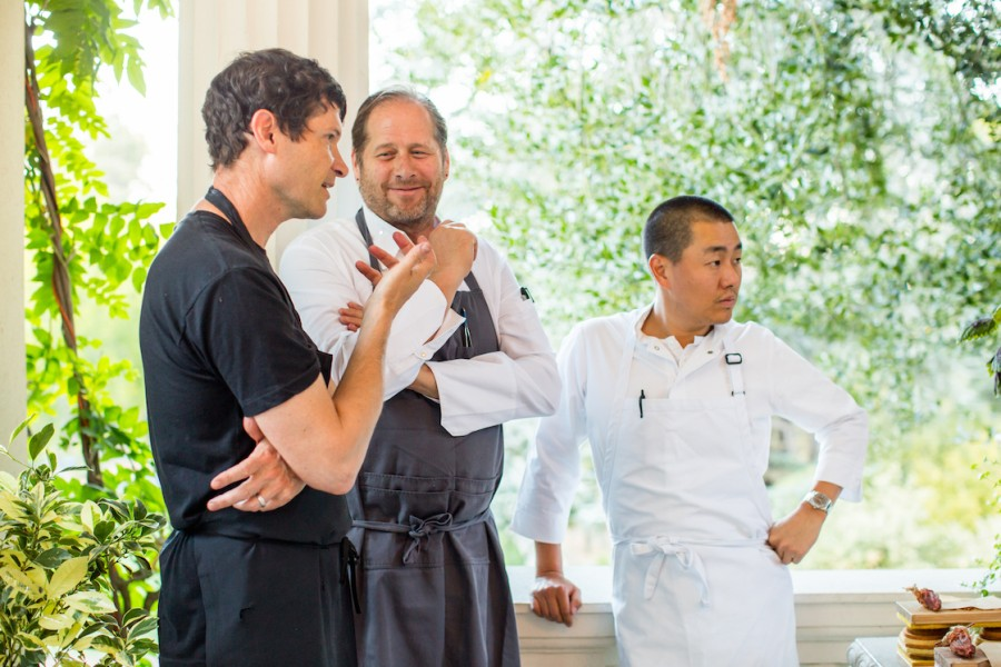 Daniel Patterson, David Kinch and Corey Lee during Steinbeisser's Experimental Gastronomy at the Villa Montalvo in Saratoga, California.
