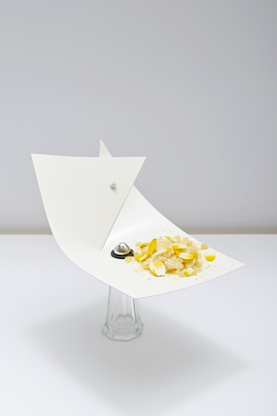 'Fruit' from Daniel Burns (Luksus) served on a 'White Snip' plate by Kathleen Reilly.