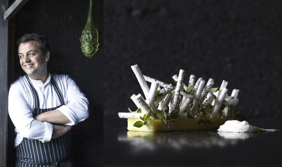 Chef Alexandre Gauthier from La Grenouillère (awarded 2 Michelin stars and No.64 on The World's Best Restaurants)