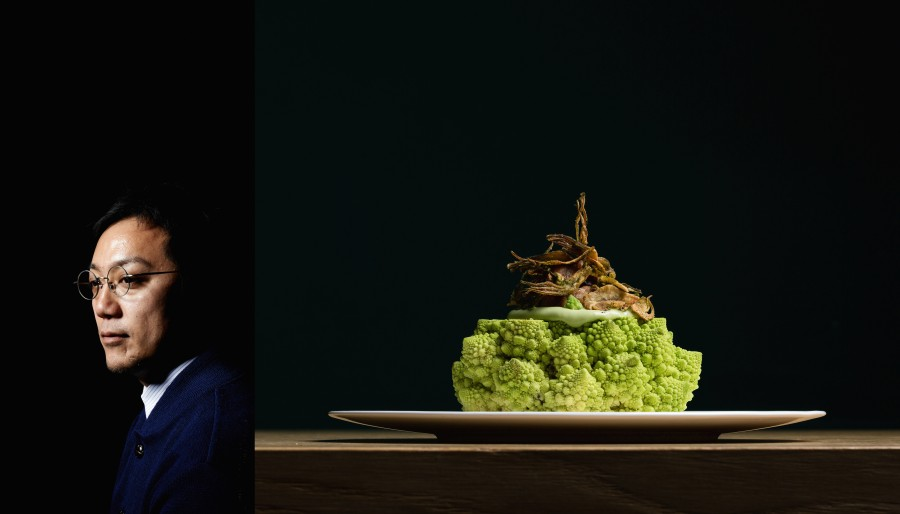 Chef Yoji Tokuyoshi from restaurant Tokuyoshi in Milan (awarded 1 Michelin star)